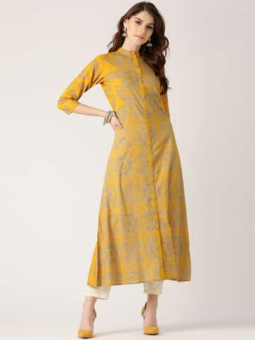 872e30dac10 Kurtis Online - Buy Designer Kurtis   Suits for Women - Myntra