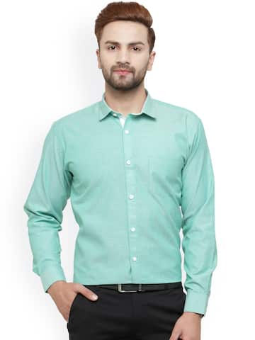 e6b2ac4344c Green Shirts - Buy Green Shirts Online in India
