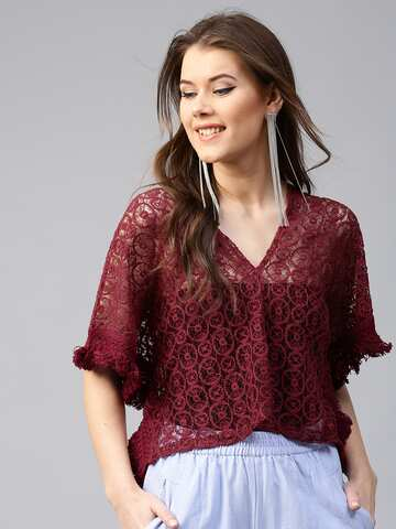 78e2610f04b3bc Lace Tops - Buy Lace Tops for Women   Girls Online in India