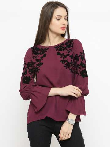 4bea18df4a6a2 Ladies Tops - Buy Tops & T-shirts for Women Online | Myntra