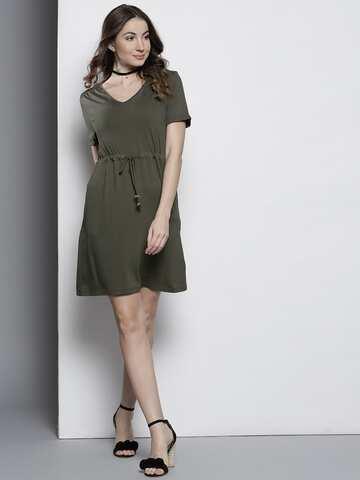 54f1646be3 Knee Length Dress - Buy Knee Length Dresses Online in India