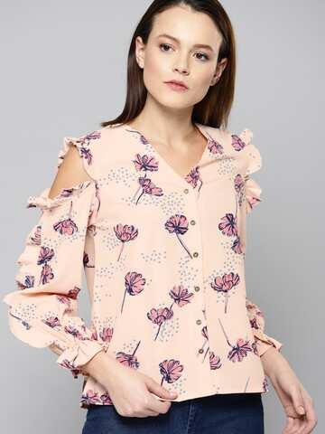 c2fefa5c454 Cold Shoulder Tops - Buy Cold Shoulder Tops for Women Online - Myntra