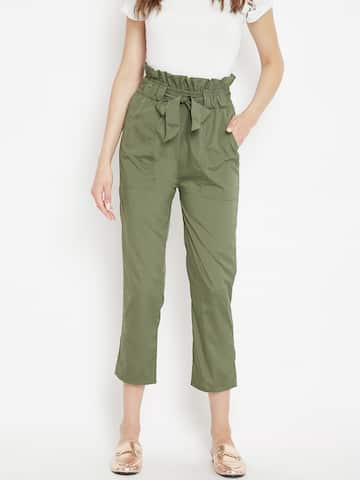 668854f1e115 Women's Trousers - Shop Online for Ladies Pants & Trousers in India | Myntra