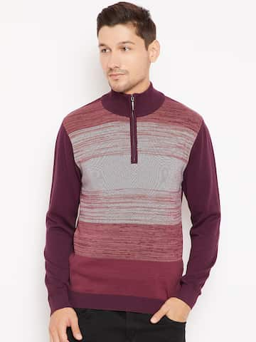 84781f2a651 Tommy Hilfiger Sweaters Lifestyle Men Burgundy Sweater - Buy Tommy ...