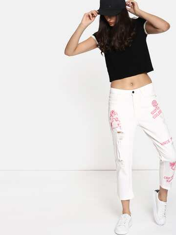 a7fb3c9320ba5 Printed Jeans - Buy Printed Jeans Online in India- Myntra