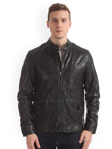 7f498c229 Leather Jackets - Buy Leather Jacket Online in India   Myntra