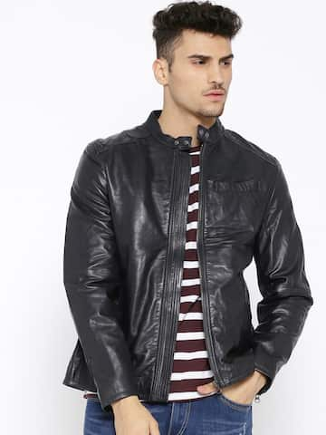 9a3e9dd26 Leather Jackets - Buy Leather Jacket Online in India | Myntra