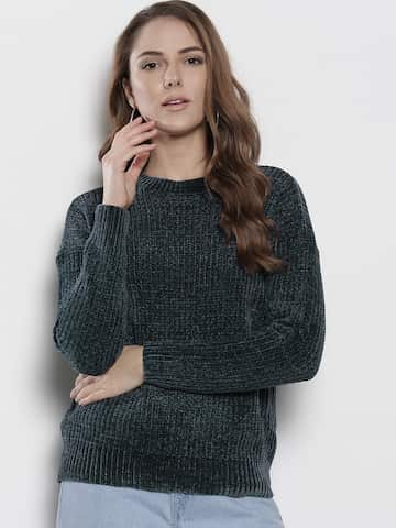 1b6c06a5ef2a5 Sweaters for Women - Buy Womens Sweaters Online - Myntra