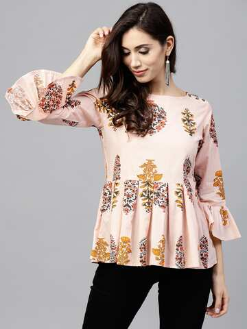 8e7571ce40 Ladies Tops - Buy Tops & T-shirts for Women Online | Myntra