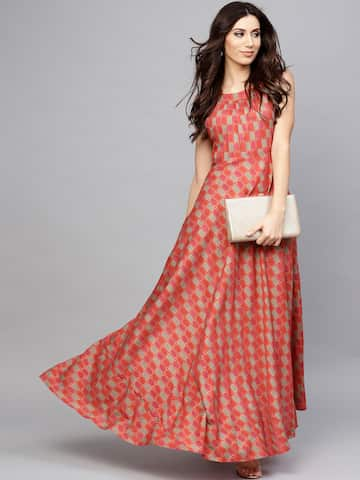 00d2ec9a27ad Long Dresses - Buy Maxi Dresses for Women Online in India - Upto 70% OFF