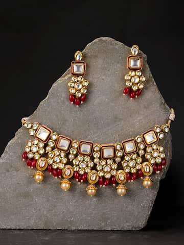 8fbbd013f4e1d Kundan Jewellery Set - Buy Kundan Jewellery Sets Online | Myntra