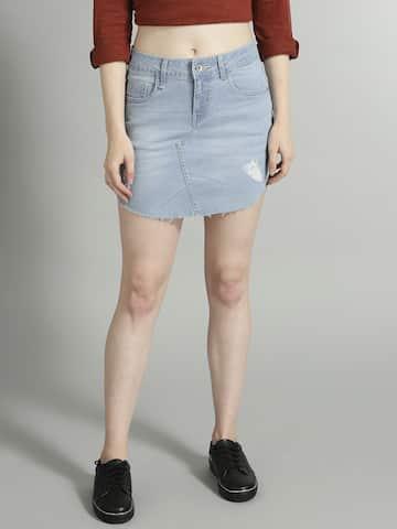 8b9247cf8b9b Denim Skirts - Buy Denim Skirts for Women Online | Myntra