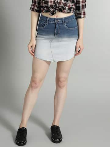 8b9247cf8b9b Denim Skirts - Buy Denim Skirts for Women Online   Myntra