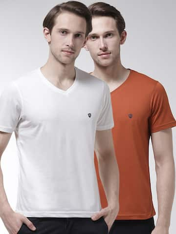 fcf6b1e98ec3db V Neck T-shirt - Buy V Neck T-shirts Online in India | Myntra