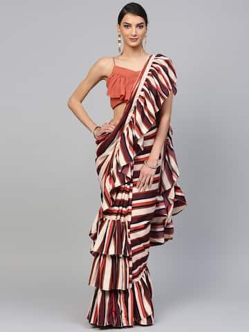 Designer Saree Buy Designer Sarees Online In India Myntra