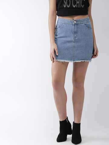 Denim Skirts - Buy Denim Skirts for Women Online  35e465adee86