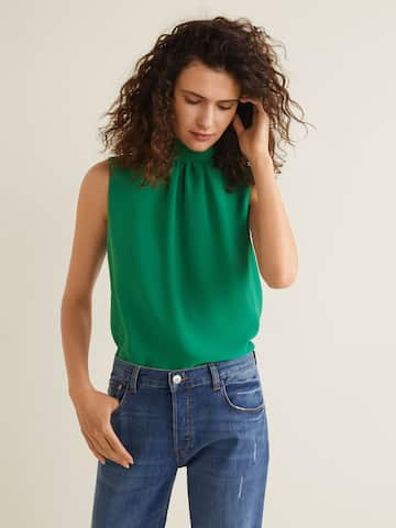 8478850f1225 Mango high waisted pantalon in 2019 Products Tops Blouse en