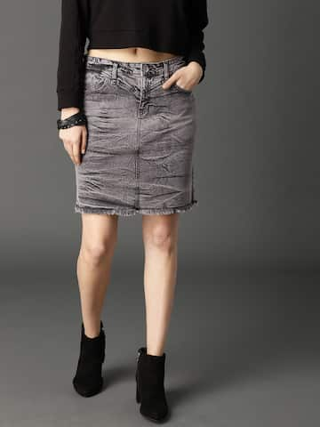 0b57f5461a Denim Skirts - Buy Denim Skirts for Women Online | Myntra