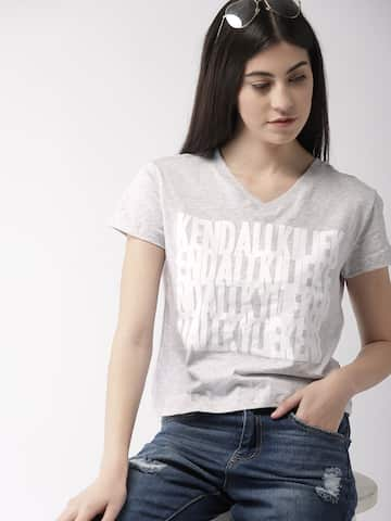 V Neck T-shirt - Buy V Neck T-shirts Online in India  66915e9c7838
