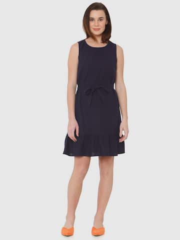 Navy Blue Dresses - Buy Navy Blue Dresses online in India 8722be283