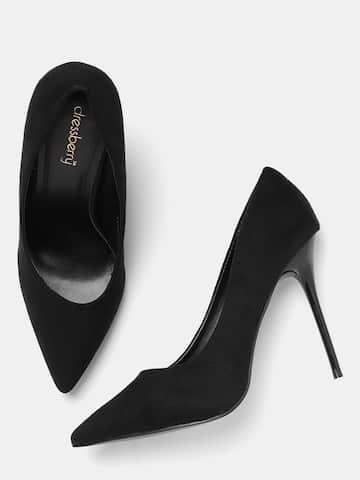 1dc5040a26e Black Heels - Buy Black Heels Online in India
