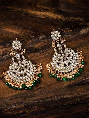 0bc3a97031243 Kundan Earrings - Buy Antique Kundan Earrings in India   Myntra