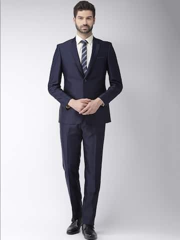a8fcba83918 Suits for Men - Buy Men Suit & Blazer Online | Myntra