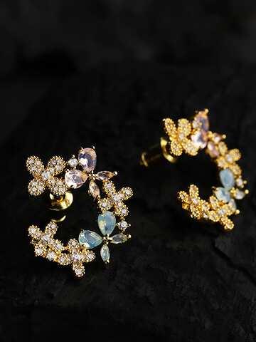 17b318baa4e24 Cubic Zirconia Earrings | Buy Cubic Zirconia Earrings Online in ...