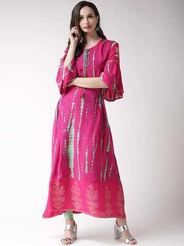 124029ad5cf A Line Kurtas - Buy A Line Kurtas online in India