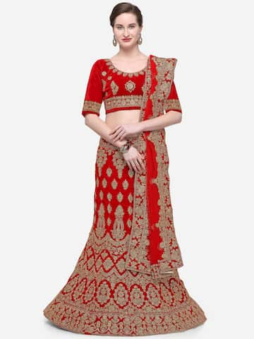Red Lehenga Choli Buy Red Lehenga Choli Online In India
