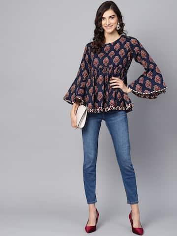 4b06ba14cde70 Ethnic Tops - Buy Ethnic Wear for Women Online in India