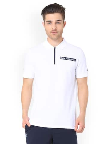 9737bd201bc Puma White Men Tshirt Polo Tshirts Tshirts - Buy Puma White Men ...