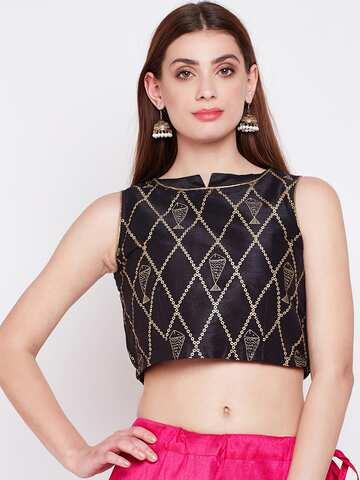85ff2bdf3383eb Crop Tops - Buy Midriff Crop Tops Online for Women in India