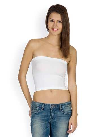 bef135e63b5d Tube Tops - Buy Latest Tube Tops For Women Online | Myntra