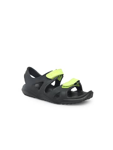 c76e8e772db5 Croc Black Sandals - Buy Croc Black Sandals online in India