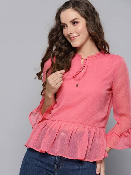 b90f40b19bd3 Chiffon Tops - Buy Chiffon Tops for Women Online | Myntra