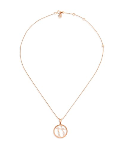 Mia by Tanishq 14KT Gemini Rose Gold Pendant and Chain