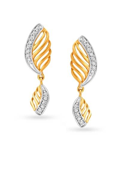 6f2e9ff4d7020 Tanishq Earrings - Buy Tanishq Earrings online in India
