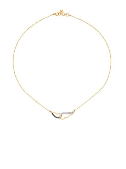 Tanishq Diamond Jewellery Necklace Earrings Chain - Buy Tanishq