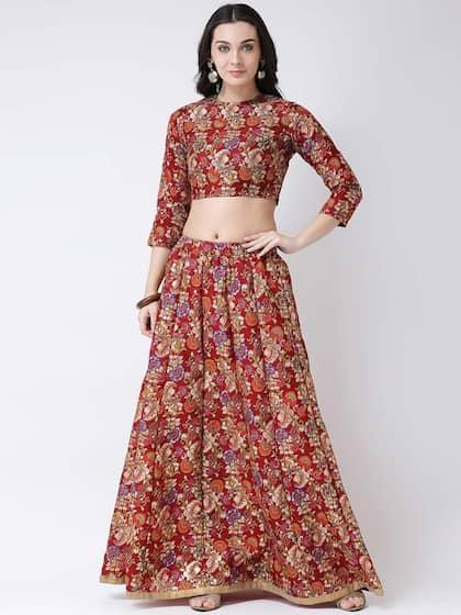 9eca91a106 Maroon Lehenga Choli | Buy Maroon Lehenga Choli Online in India