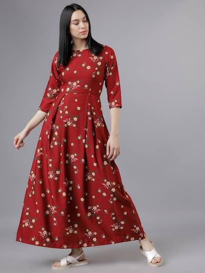 112e9ab820e6 Long Dresses - Buy Maxi Dresses for Women Online in India - Upto 70% OFF