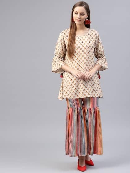 0b72d51b8a Shararas - Buy Designer Sharara Suits Online | Myntra
