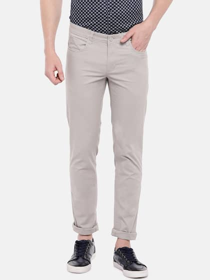 87f045a7cb Slim Fit Trousers - Buy Slim Fit Trousers Online in India