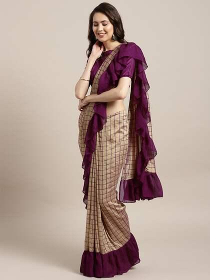 Golden Saree | Buy Gold Saree Online in India | Myntra