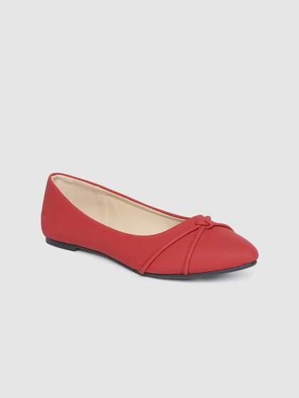 Ladies Spot On Flat Pointed Toe Studded Design 'Ballerina