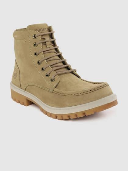 Original Timberland Tan Nubuk Logger Boots, Man Made in US
