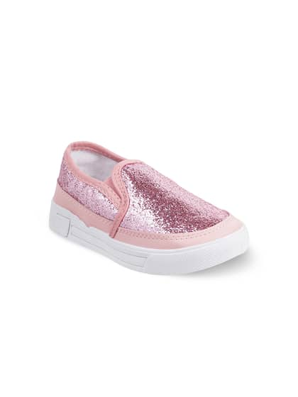 NEW Toddler Girls Tennis Shoes Size 7 Pink Glitter Mary Janes Sneakers Slip On