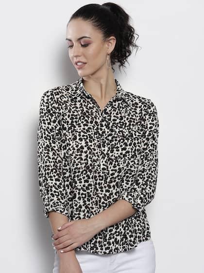 Bright Leopard Print  Short Sleeve Crop Top XS-3XL