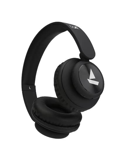 boAt Rockerz 450 Lucious Black Wireless Headphone with Immersive Audio 8H Playtime