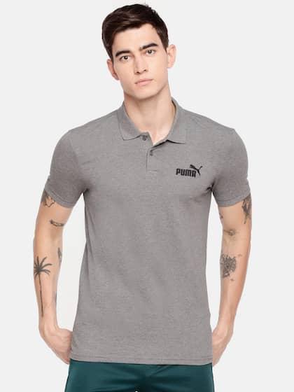 Puma Suede 57 Navy Blue Polo T Shirt For Men V74k6908   www